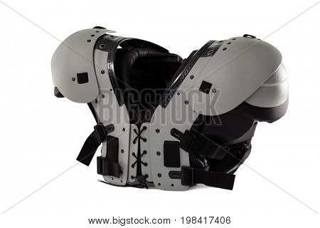 Close up of chest protector against white background