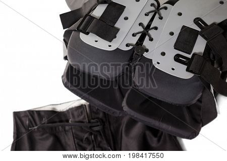 Chest protector with pant on white background