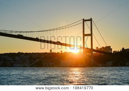 Istanbul Bosphorus Bridge at sunset - Istanbul, Turkey