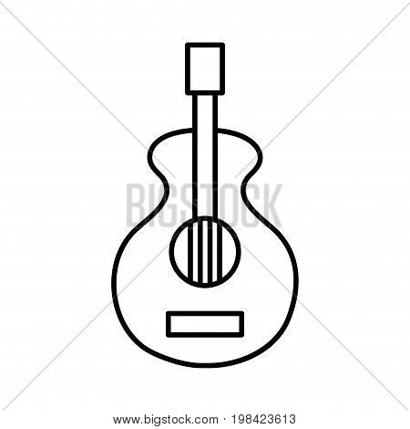 line guitar music instrument to melody harmony vector illustration