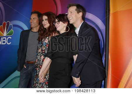 LOS ANGELES - AUG 3:  Eric McCormack, Debra Messing, Megan Mullally, Sean Hayes at the NBC TCA Press Day Summer 2017 at the Beverly Hilton Hotel on August 3, 2017 in Beverly Hills, CA