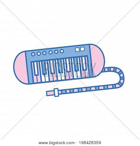 piano music instrument to melody harmony vector illustration