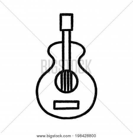 figure guitar music instrument to melody harmony vector illustration