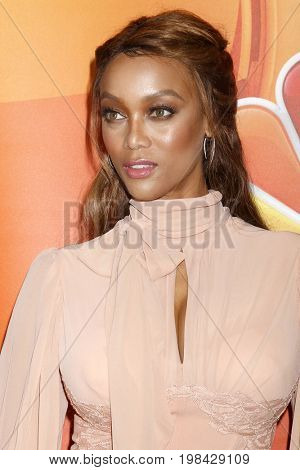 LOS ANGELES - AUG 3:  Tyra Banks at the NBC TCA Press Day Summer 2017 at the Beverly Hilton Hotel on August 3, 2017 in Beverly Hills, CA