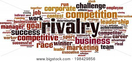 Rivalry word cloud concept. Vector illustration on white