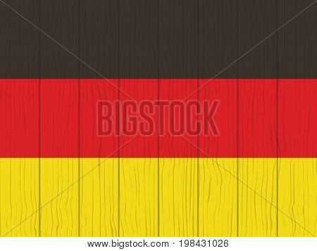 flag of Germany painted on a wooden wall