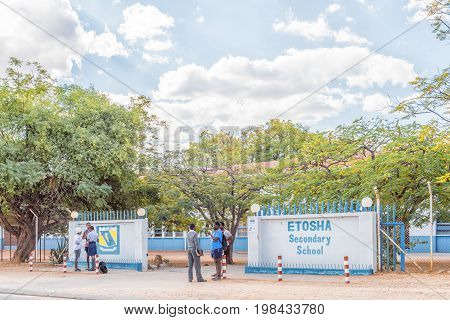TSUMEB NAMIBIA - JUNE 20 2017: The Etosha Secondary School in Tsumeb in the Oshikoto Region of Namibia