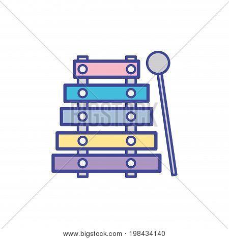marimba music instrument to melody harmony vector illustration