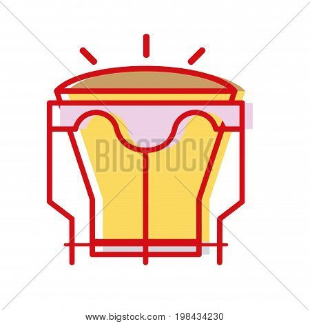 djembe music instrument to melody harmony vector illustration