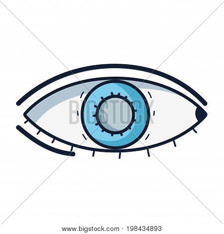 heathy eye vision and optical care vector illustation