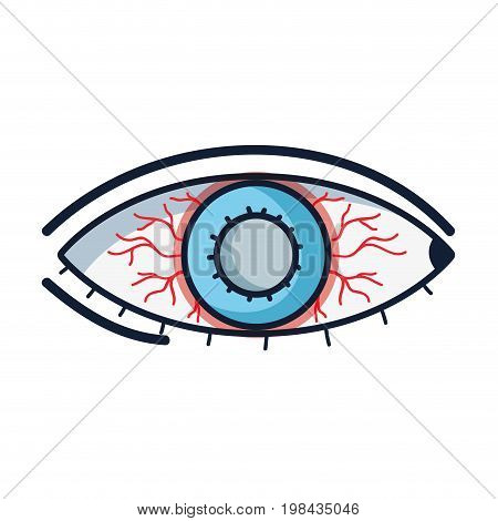 eyes with conjunctivitis sickness and infection vector illustration