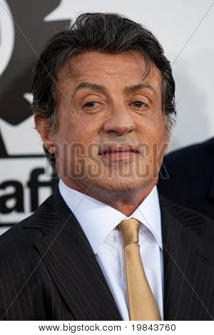 HOLLYWOOD, CA. - AUG 3: Sylvester Stallone arrives at The Expendables Los Angeles premiere at Grauman's Chinese Theater on August 3, 2010 in Hollywood, Ca.