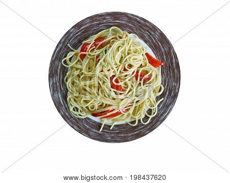 Spaghetti With Spanish Flavours