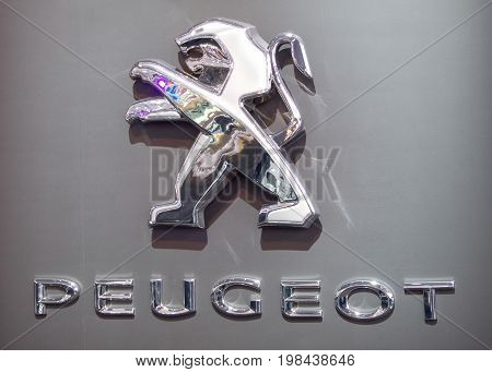 Moscow, Russia - August 05, 2010: Logo and emblem of the company