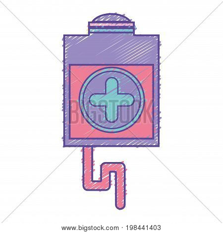 blood donation syringe with tranfusion tools vector illustration