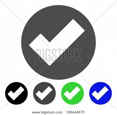 Apply flat vector pictogram. Colored apply, gray, black, blue, green pictogram versions. Flat icon style for application design.