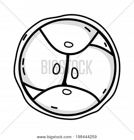line biology genetic embryo cells division vector illustration