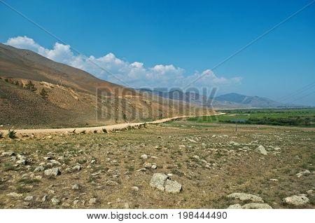 Ulan-Ude route Kurumkan Barguzin valley, Buryatia Russia.