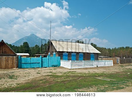 Buryat village. Barguzin valley  Buryatia Russia.Russia  summer nature  travel