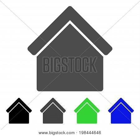 Home flat vector pictograph. Colored home, gray, black, blue, green pictogram variants. Flat icon style for web design.