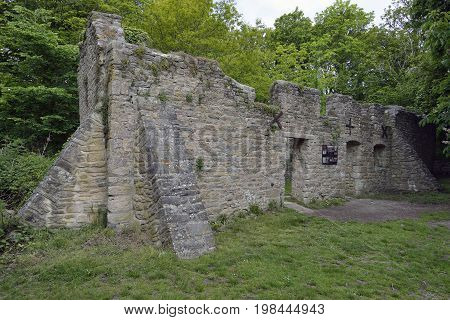 Remains of Rectory Cottages Tyneham Dorset Abandoned in 1943