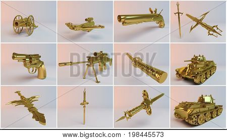 Golden Imaginary 3D Weapons Collection