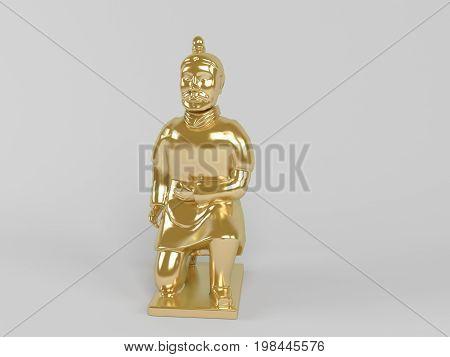3D Golden Statue
