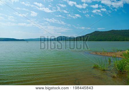 mountain lake Kotokel. Buryatia Russia Russia  summer nature  travel