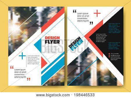 Abstract blue orange black stripe for Minimal Poster Brochure Flyer design Layout vector template