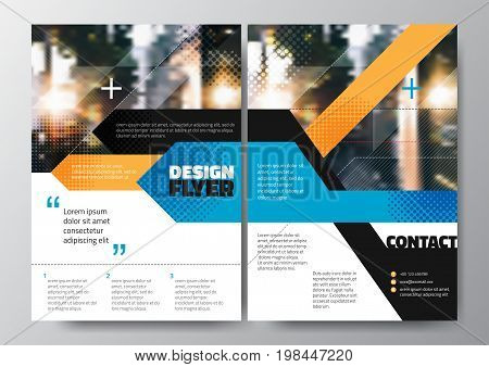 Abstract blue orange stripe for Minimal Poster Brochure Flyer design Layout vector template
