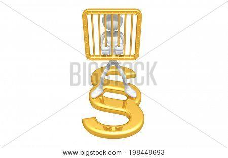 The Original 3D Character Illustration Imprisoned
