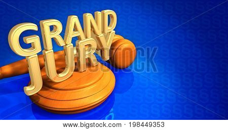 Grand Jury Legal Gavel Concept 3D Illustration
