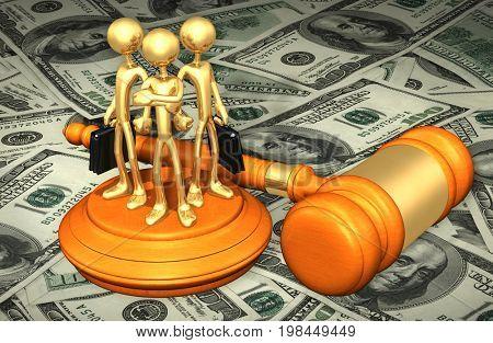 Lawyer Up Legal Concept 3D Illustration