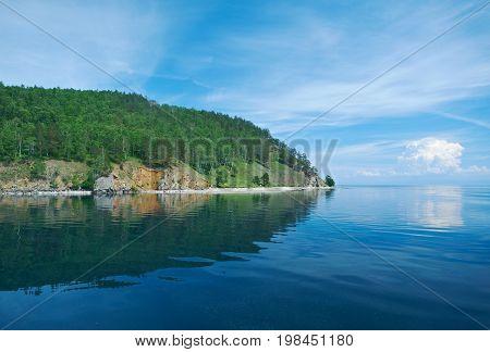 circum-baikal railroad. Lake baikal. siberia summer travel