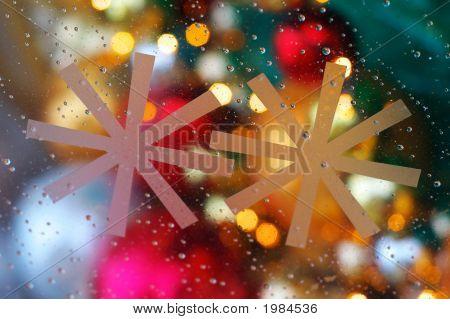 Snowflakes On Thi Glass