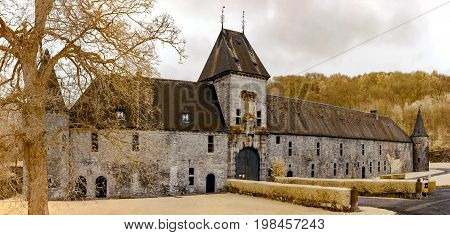 Medieval Belgian Castle In Infrared View, Spontin