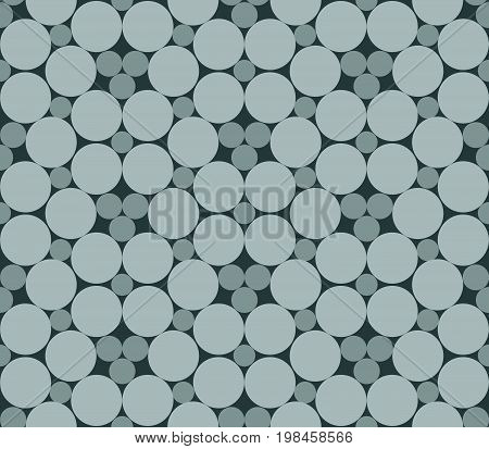 Seamless dots seamless circles abstract flowers. Geo geometric pattern with abstract flowers in grey. Seamless background with monochrome monotone pattern. Oriental simple background in vector.