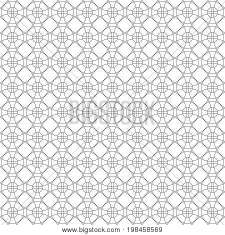 Seamless geo geometric pattern. Seamless linear texture. Pattern of concentric circles. Black and white vector design.