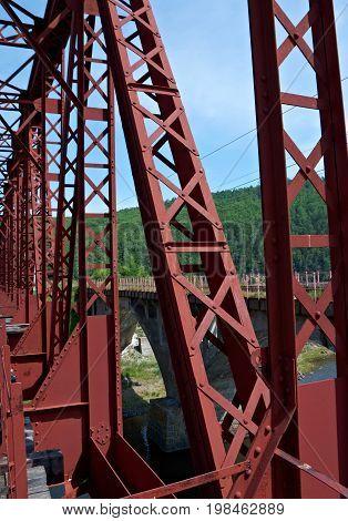 Circum-Baikal railroad . Railway bridge ,  Russia nature,