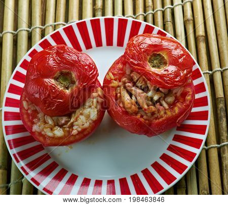Middle East   Tomato Stuffed