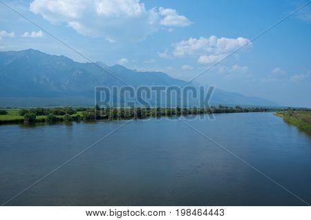 Barguzin River Barguzin valley Buryatia Russia. Russia  tourism,