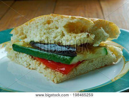Grilled Ratatouille Muffuletta Sandwich