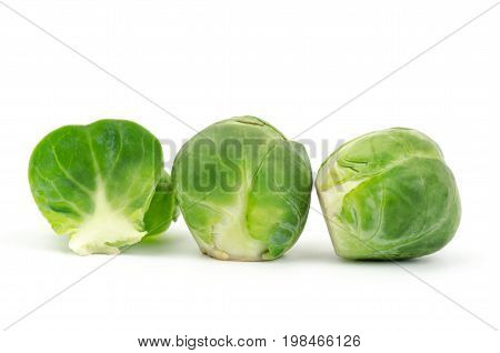 Fresh brussels sprouts isolated on white background,Healthy vegetables for cooking