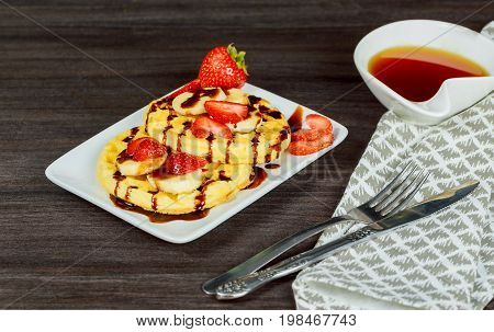 Waffles With Berry Fruit