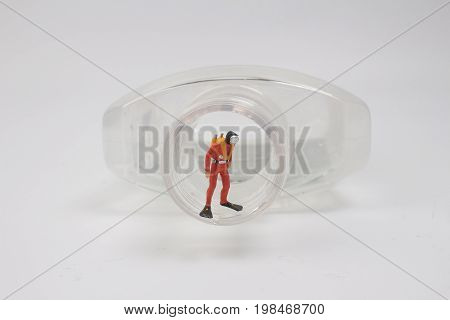 Small Diver Of Fun Toy With Background