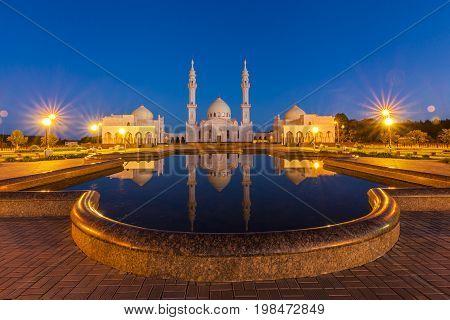 white mosque in the Bulgar Bolghar, Bolgar , Tatarstan, Russia