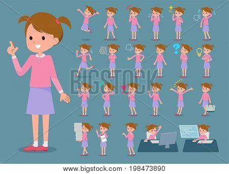Flat Type Pink Clothing Girl_1