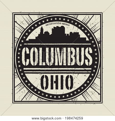 columbus ohio skyline images illustrations vectors columbus ohio skyline stock photos. Black Bedroom Furniture Sets. Home Design Ideas