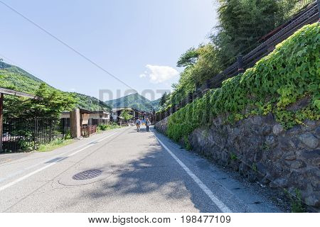 Narai , Japan - June 4, 2017: People Are Walking At Narai  Is A  Small Town In Nagano Prefecture  ,t