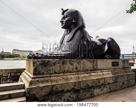 Egyptian Sphinx In London (hdr)